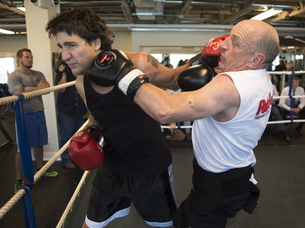 MMA Crossfire – Liberal leader Justin Trudeau welcomed by Halifax's Mickey MacDonald  back to the boxing ring