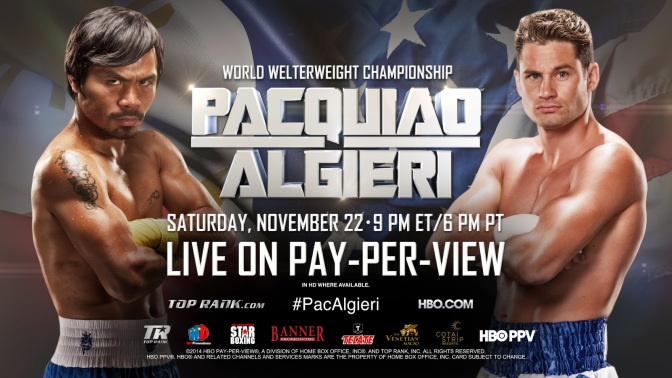 MMA Crossfire – Manny Pacquiao vs Chris Algieri predictions