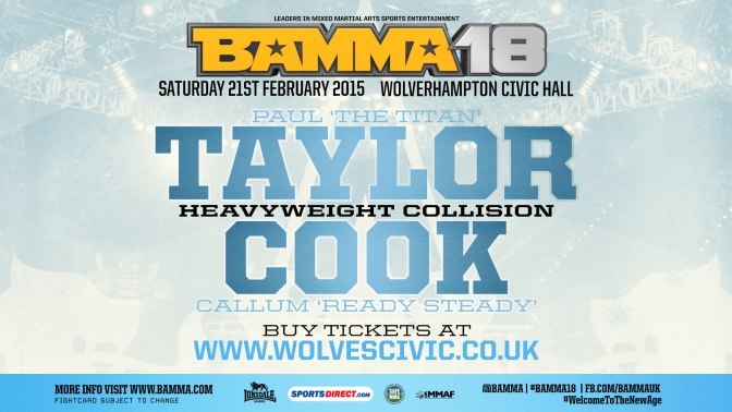 MMA Crossfire – Paul Taylor and Callum Cook collide at BAMMA 18