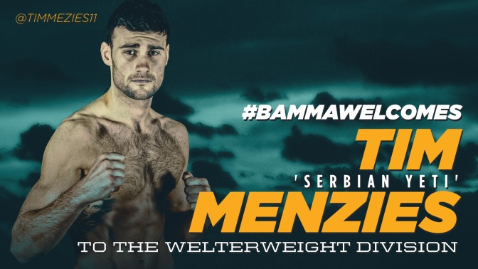 MMA Crossfire – BAMMA 18 update: Tim Menzies signs, more bouts added