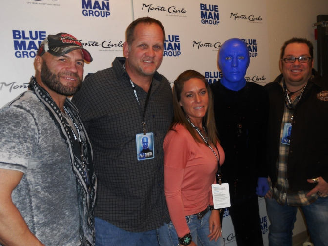 MMA Crossfire – Backstage: Randy Couture, Michael Austin, Blue Man Group