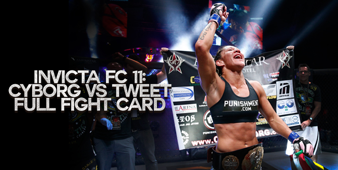 MMA Crossfire – Canadian Charmaine Tweet to challenge Cyborg at Invicta FC 11