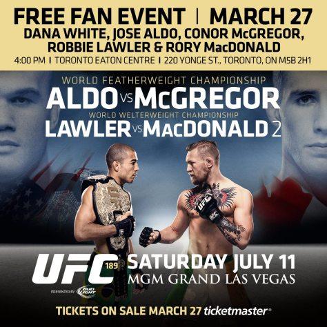 UFC 189 world tour