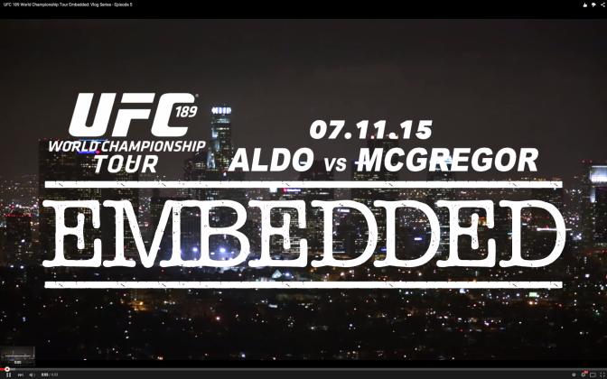UFC 189 world tour embedded