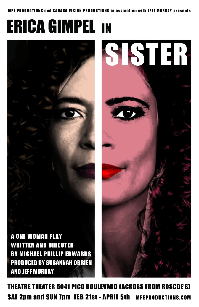 MMA Crossfire – Erica Gimpel walks a thin line in one-woman play called Sister