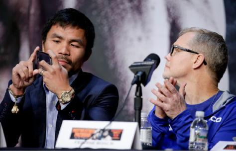 Manny Pacquiao and Freddie Rocach